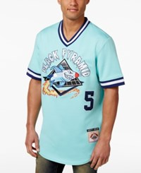 Black Pyramid Men's Outta Here Embroidered Baseball Jersey Aqua