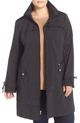 Cole Haan Signature Plus Size Women's Cole Haan Packable Raincoat Black