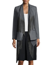 Foundrae Two Way Jacket With Detachable Fringe Vest