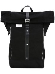 Sandqvist 'Rolf' Waxed Backpack Black