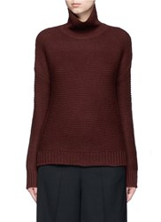 Vince Wool Cashmere Cowl Neck Sweater Red