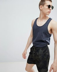 French Connection Camo Swim Shorts Green