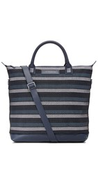 Want Les Essentiels O'hare Shopper Tote Blue Stripe Cord Navy