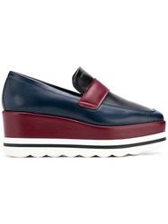 Pollini Wedge Loafers Blue