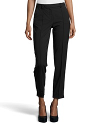 Halston Heritage Skinny Fit Tailored Suiting Pants Black