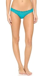 Eberjey Delirious Low Rise Thong Turquoise