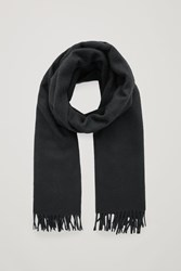 Cos Wool Cashmere Scarf Black