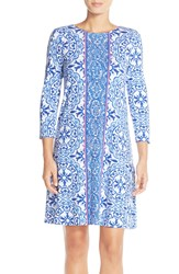 Lilly Pulitzer 'Ophelia' Print Trapeze Dress Resort White