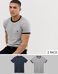 French Connection 2 Pack Ringer T Shirt Multi