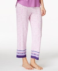 Alfani Cropped Printed Pajama Pants Only At Macy's Pink Ornate