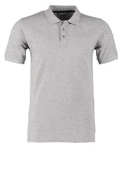 Only And Sons Cavo Pique Polo Shirt Light Grey Melange Mottled Grey