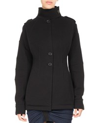 Atlein Single Breasted Jersey Coat Black