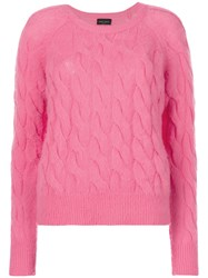 Roberto Collina Knitted Jumper Cashmere S Pink Purple