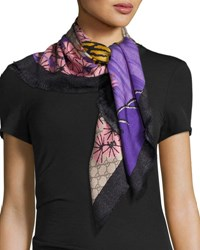 Gucci Silk Twill Bengal Scarf Rope Pink Rope Pink
