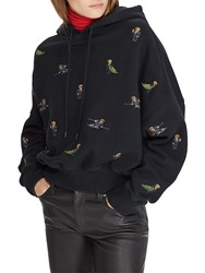 Ralph Lauren Polo Polo Bear Print Fleece Hoodie Black