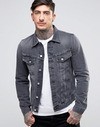 Nudie Jeans Co Billy Denim Jacket Desolation Grey Black