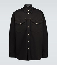 Versace Relaxed Fit Denim Jacket Black