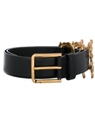 Dolce And Gabbana Belt With Logo Detail Calf Leather Black