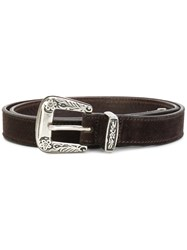 Riccardo Forconi Western Belt Leather Brown