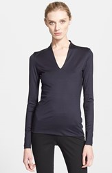 Women's Akris Long Sleeve Silk Jersey Blouse
