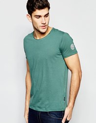 Replay T Shirt Wide Neck Laser Cut In Washed Green Green