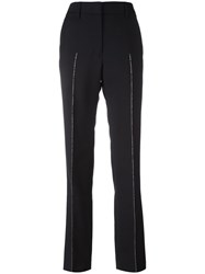 Jil Sander Metallic Detailing Trousers Black