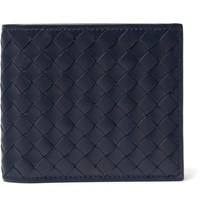 Bottega Veneta Intrecciato Leather Billfold Wallet Storm Blue