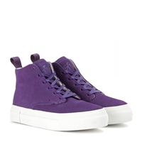 Eytys Odyssey Suede High Top Sneakers Purple