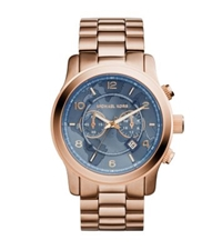 Michael Kors Watch Hunger Stop Oversized Runway Rose Gold Tone Watch