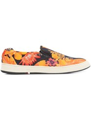 Osklen 'Garden Bossanova' Sneakers Men Leather Latex Canvas 12 Yellow Orange