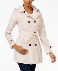 Celebrity Pink Double Breasted Trench Coat Pink Salt