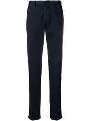 Dell'oglio Slim Fit Tapered Trousers Blue