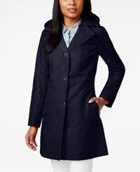 Anne Klein Button Front Trench Coat Ink