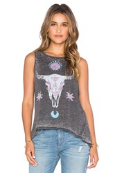 Chaser Painted Cowl Skull Tank Charcoal