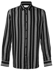 Saint Laurent Star Stripe Print Shirt Black