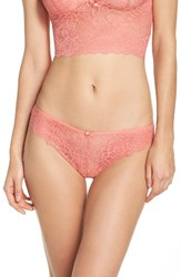 Chelsea 28 Women's Chelsea28 Lacy Days Thong Coral Peach