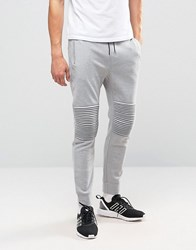 Only And Sons Sweat Jogger With Cuff Bottom Knee Detail Grey