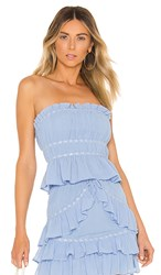 Lovers Friends Holly Top In Baby Blue. Powder Blue