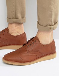 Toms Leather Brogue Shoes Tan