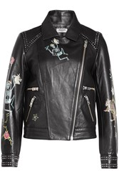Zadig And Voltaire Printed Studded Leather Biker Jacket