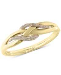 Effy Collection D'oro By Effy Diamond Electro Bangle Bracelet 9 10 Ct. T.W. In 14K Yellow Gold
