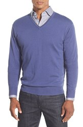 Men's Peter Millar Tipped Cashmere Blend V Neck Sweater Provence
