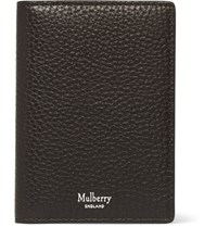 Mulberry Full Grain Leather Billfold Cardholder Dark Brown