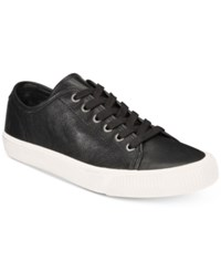 Frye Patton Low Top Lace Up Sneakers Created For Macy's Shoes Black