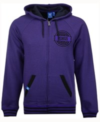 Adidas Men's Sacramento Kings Originals Full Zip Hoodie Purple