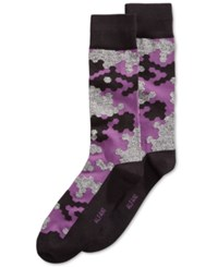 Alfani Men's Abstract Hex Socks Only At Macy's Purple