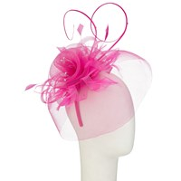 John Lewis Crin Diamante Fascinator Fuchsia