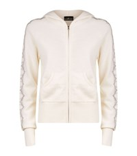 William Sharp Swarovski Cashmere Hoodie Female White