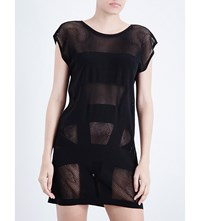 Jets By Jessika Allen Intrigue Mesh Dress Black