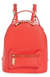Deux Lux Annabelle Mini Faux Leather Backpack Coral Poppy